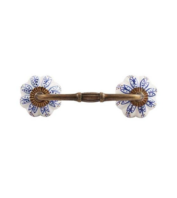 Poignée de meuble Lotus en porcelaine - Boutons Mandarine