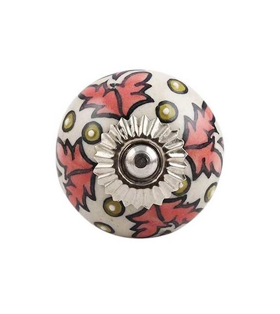 Bouton de meuble en porcelaine Maeva - Boutons Mandarine