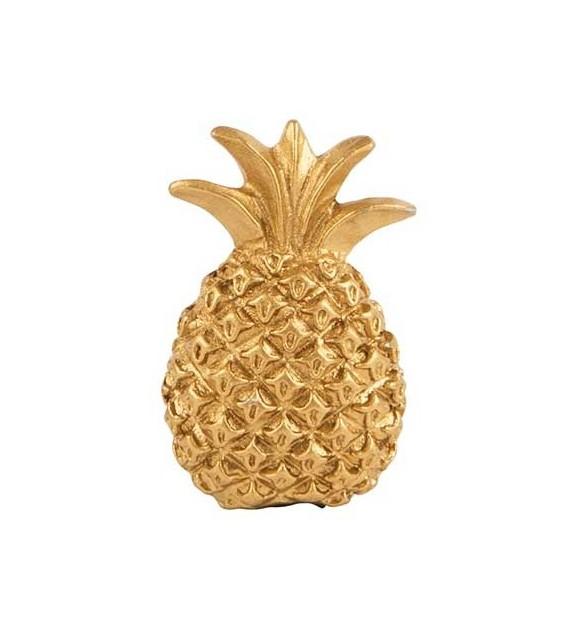 Bouton de meuble Ananas en métal doré - Boutons Mandarine