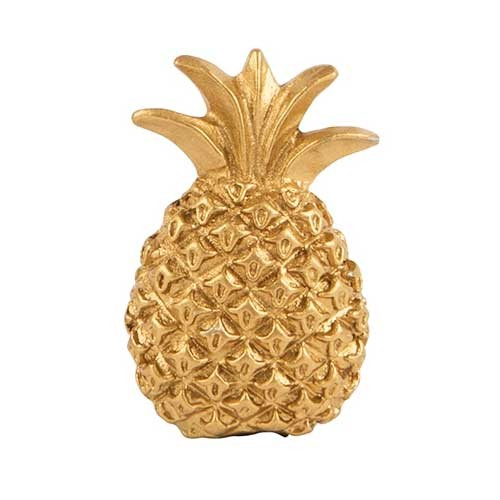 Bouton de meuble Ananas en métal doré