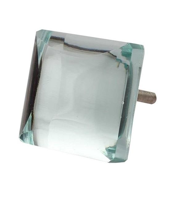Bouton de meuble en verre carré Vénitien - Boutons Mandarine