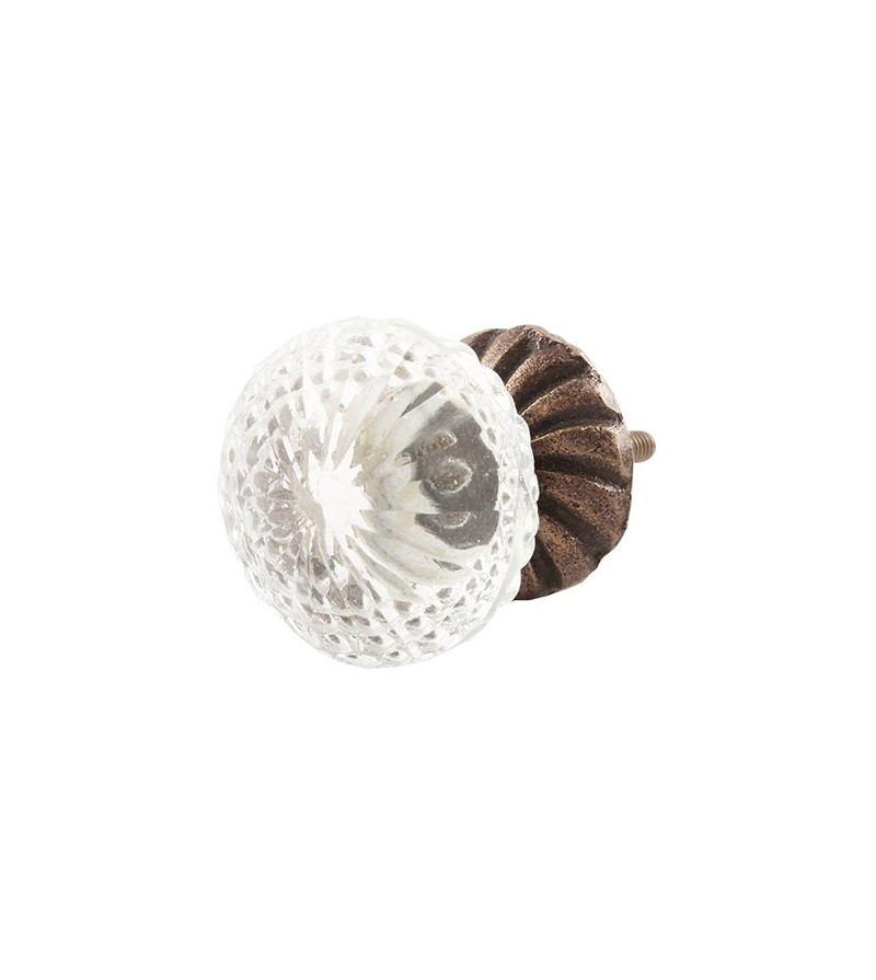 Bouton de meuble en verre sophia boutons - Bouton de porte en verre ...