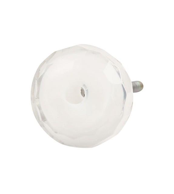 Bouton de meuble en verre diamant rond à facette - Boutons Mandarine