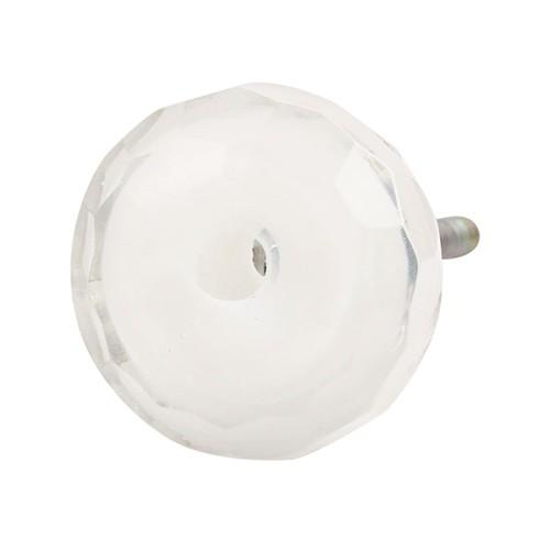 Bouton de meuble en verre diamant rond à facette