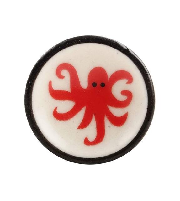 Bouton de meuble en porcelaine Les Mondes Marins
