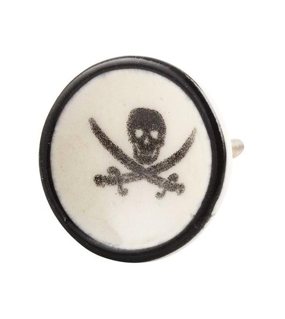 Bouton de meuble en porcelaine Pirate - Boutons Mandarine