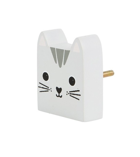 Bouton de meuble kawaï Chat