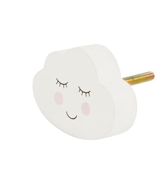 Bouton de meuble Nuage imprimé cils - Boutons Mandarine