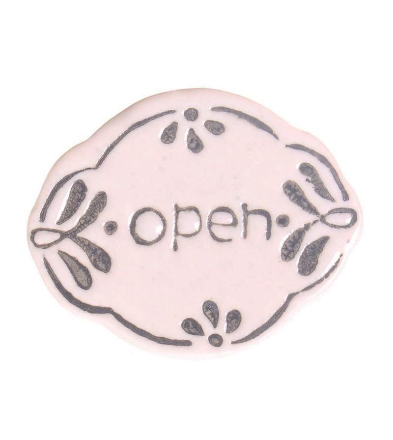 Bouton de meuble en porcelaine open r tro boutons - Bouton de porte meuble salle de bain ...
