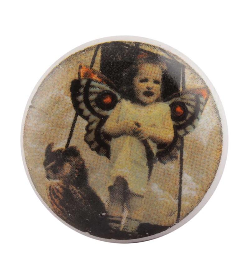 Bouton de meuble en porcelaine l 39 enfant papillon boutons - Bouton en porcelaine pour meuble ...