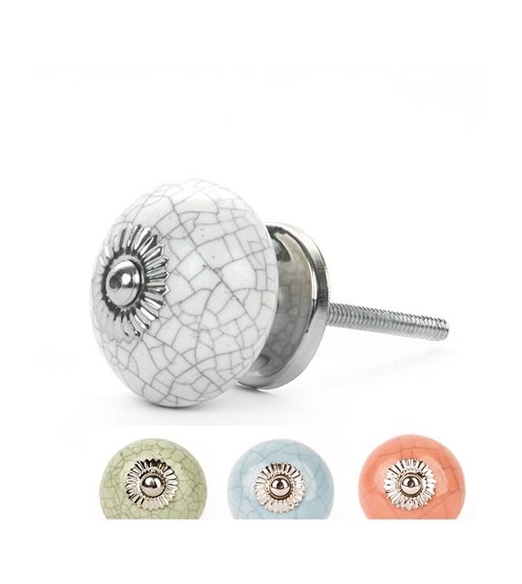 bouton de meuble antique effet craquel en porcelaine boutons. Black Bedroom Furniture Sets. Home Design Ideas