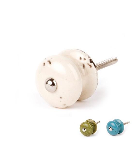 bouton de meuble r tro en porcelaine boutons. Black Bedroom Furniture Sets. Home Design Ideas