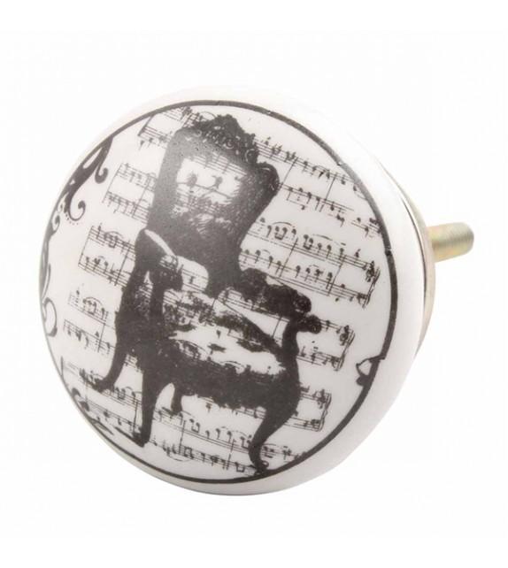 Bouton de meuble en porcelaine Fauteuil bergère