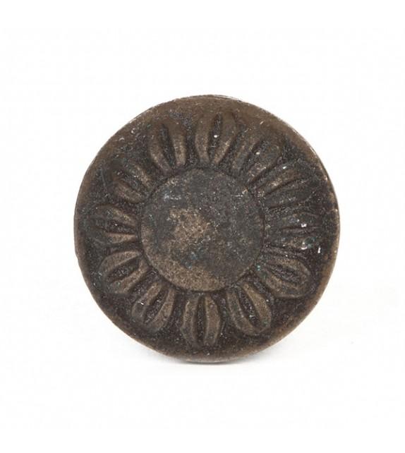 Bouton de meuble laiton bronze motif fleur - Boutons Mandarine