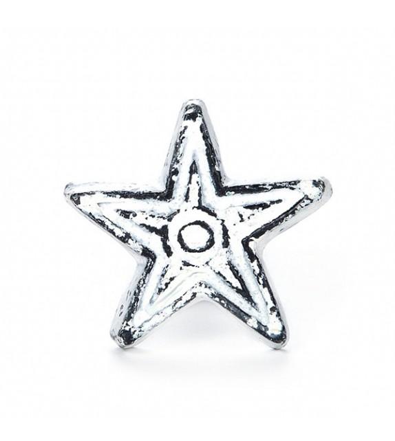 Bouton de meuble laiton étoile vintage - Super Star
