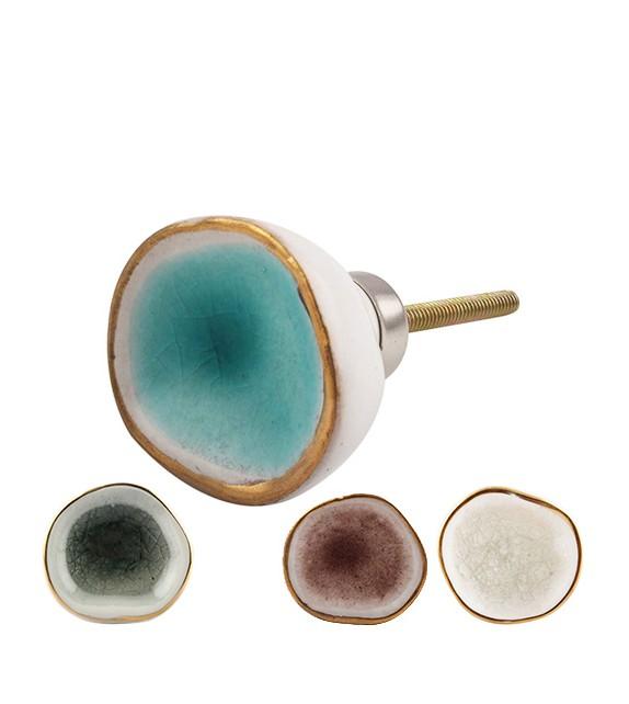 Bouton de meuble en porcelaine Pigment - Boutons Mandarine