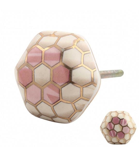 Bouton de meuble en porcelaine Glossy chic