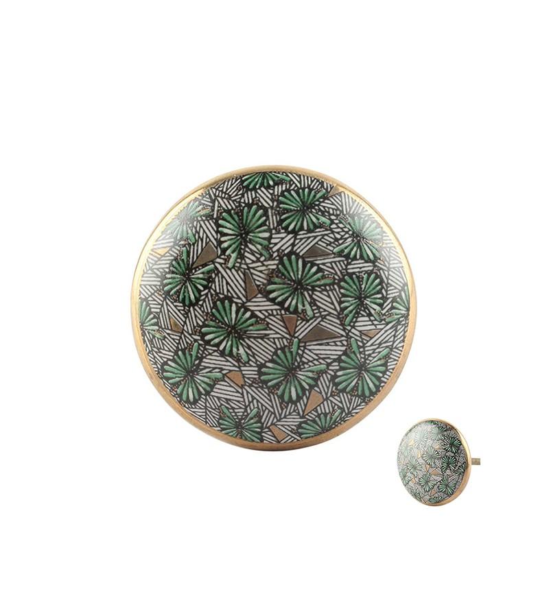 Bouton de meuble exotique Papillon en porcelaine - Boutons-Mandarine.com