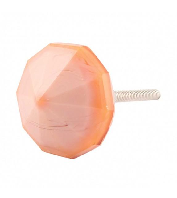 Bouton de meuble en verre Prisme - Boutons Mandarine