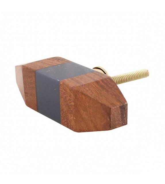 Gros bouton de meuble Gilli en bois - Boutons Mandarine