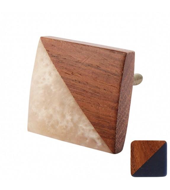 Bouton de meuble en bois carré Gilli - Boutons Mandarine
