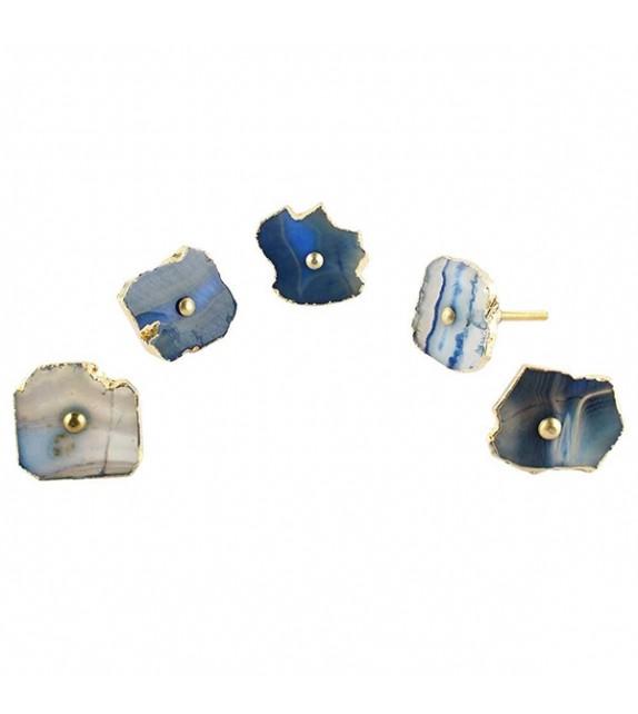 Gros bouton de meuble en pierre Agate