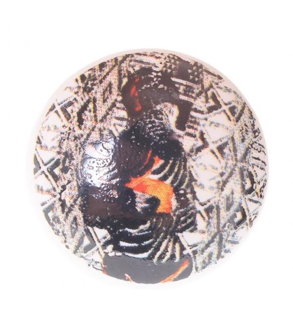 Bouton de meuble en porcelaine Femme Zèbre
