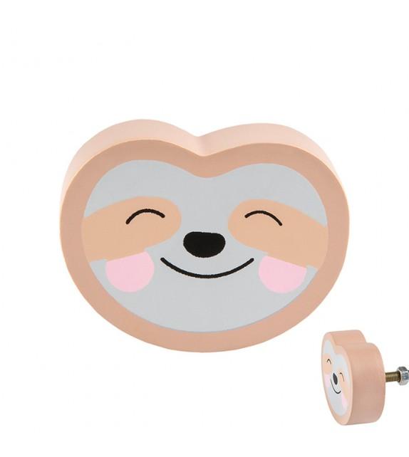 Bouton de meuble enfant Paresseux joyeux - Boutons Mandarine