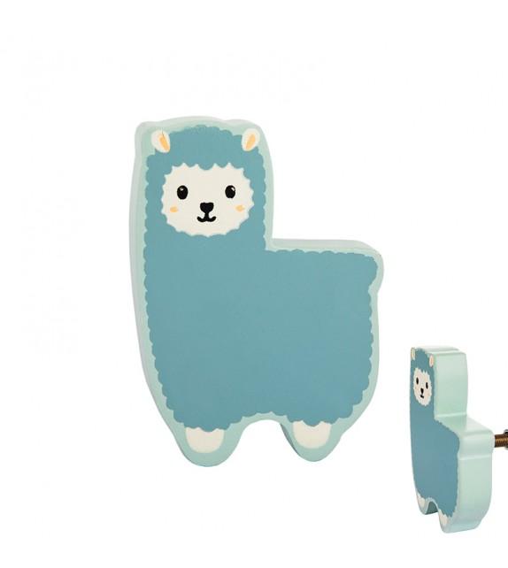 bouton de meuble enfant lama bleu boutons mandarine. Black Bedroom Furniture Sets. Home Design Ideas
