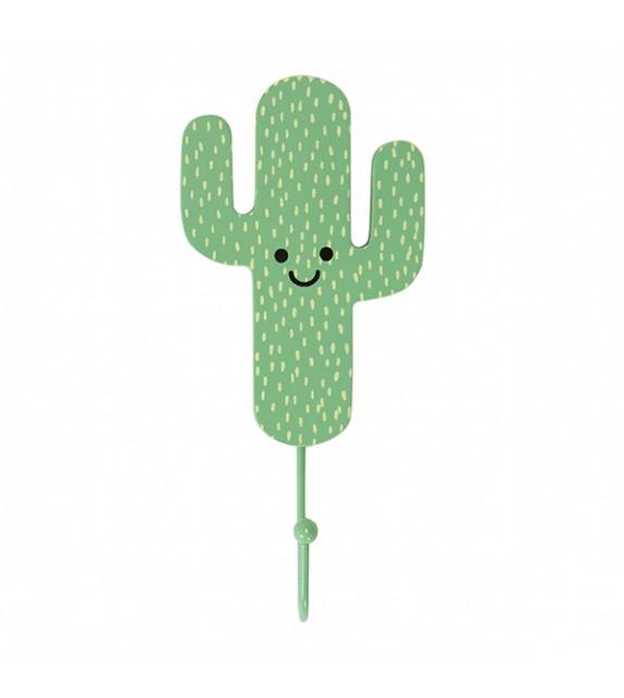 Patère murale enfant Mr Cactus - Boutons Mandarine