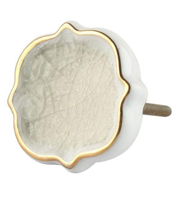 Bouton de meuble porcelaine style carreaux de ciment - Boutons Mandarine