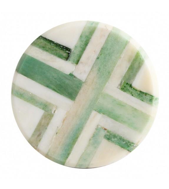 Bouton de meuble imprimé graphique bois et corne - Boutons Mandarine