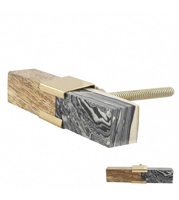 Bouton de meuble bois et effet marbre Design