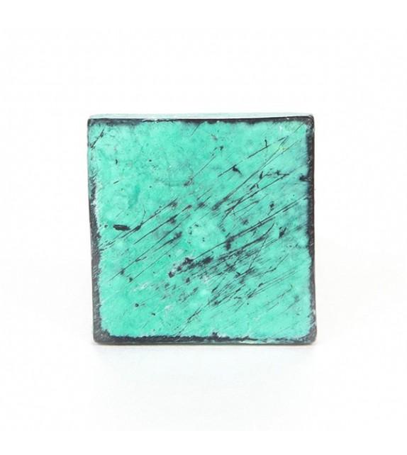 Bouton de meuble Carré en fonte style vintage Turquoise ou blanc - Boutons Mandarine