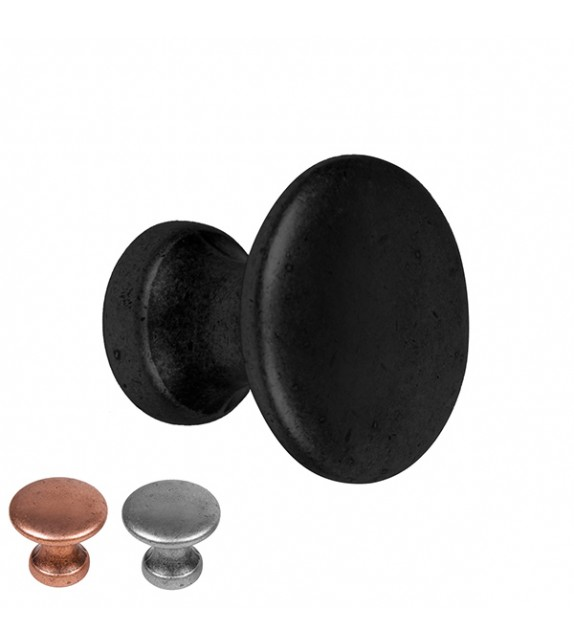 Bouton de meuble rond métal Pomo - Boutons Mandarine