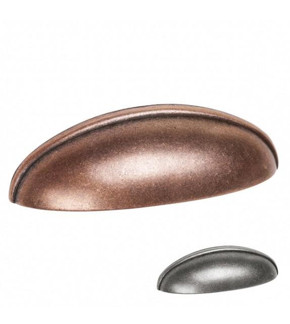 Poignée de meuble coquille Cuvette - Boutons Mandarine