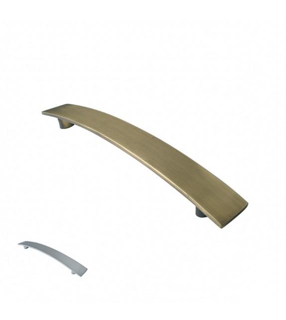 Poignée de meuble métal brossé forme courbe LOS - Boutons Mandarine