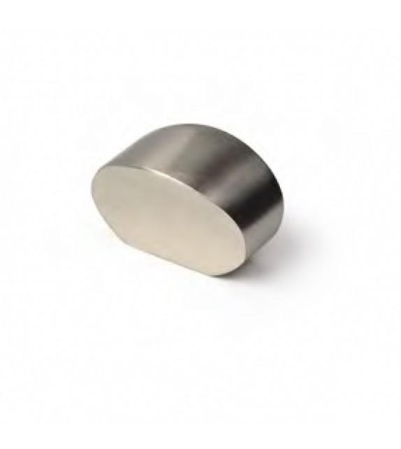Bouton de meuble nickel brossé forme demi-lune - Boutons Mandarine