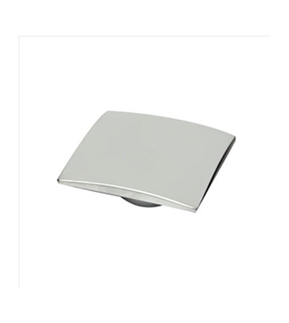 Bouton de meuble carré chrome mat Marysta - Boutons Mandarine