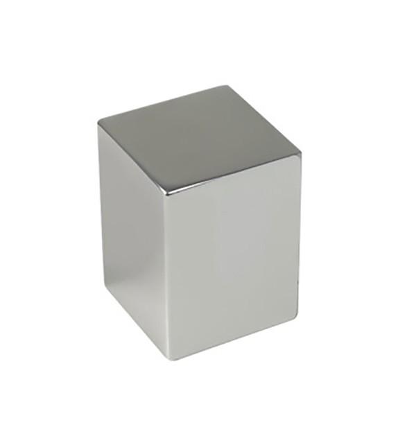 Petit bouton de meuble aluminium carré - Boutons Mandarine