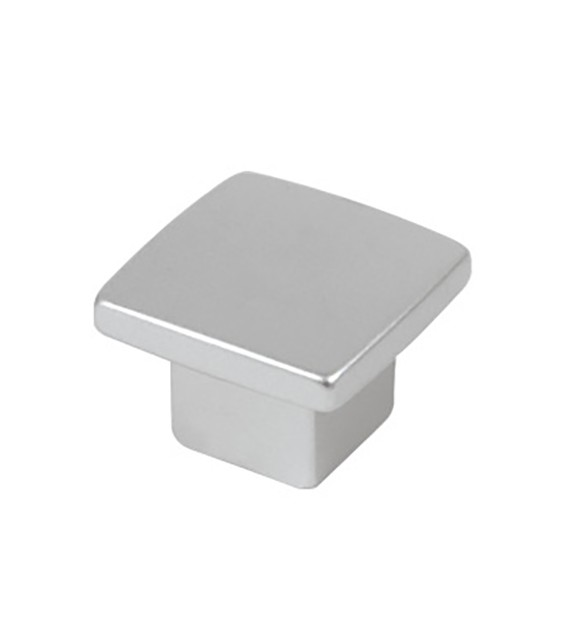 Petit bouton de meuble moderne carré chrome Cromo - Boutons Mandarine
