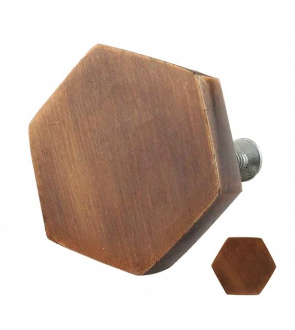 Bouton de meuble en métal hexagonal Industriel - Boutons Mandarine