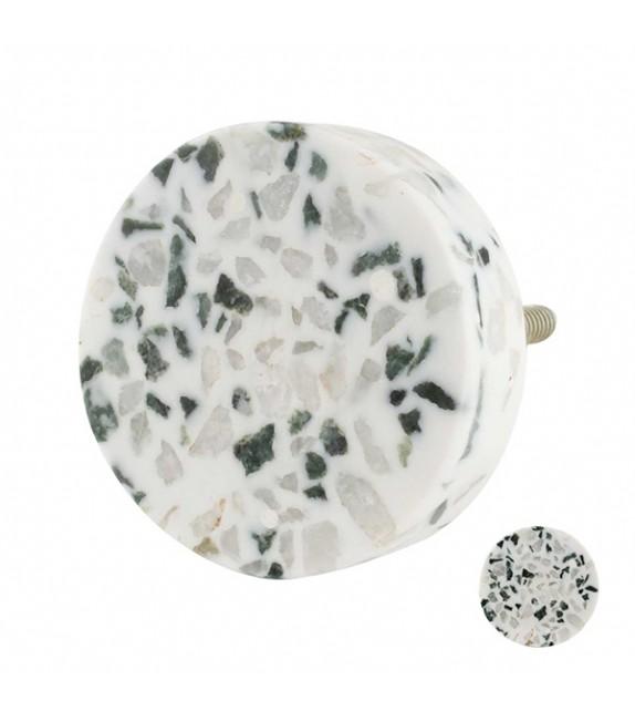 Bouton de meuble en pierre marbre Terrazzo - Boutons Mandarine