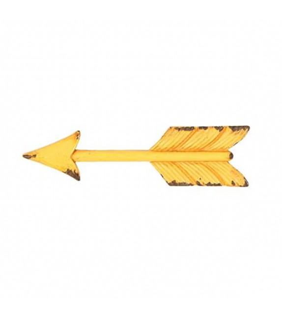 Poignée de meuble en métal Flèche jaune - Boutons Mandarine