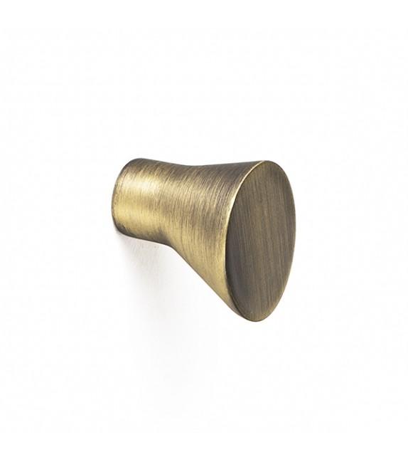 Petit bouton de meuble métal brossé Alto