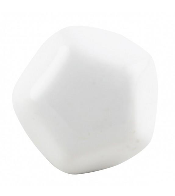 Gros bouton de meuble en porcelaine octogonale couleur unie - Boutons Mandarine