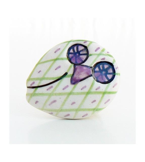 Bouton de meuble Hibou, 6 couleurs disponibles - Boutons Mandarine