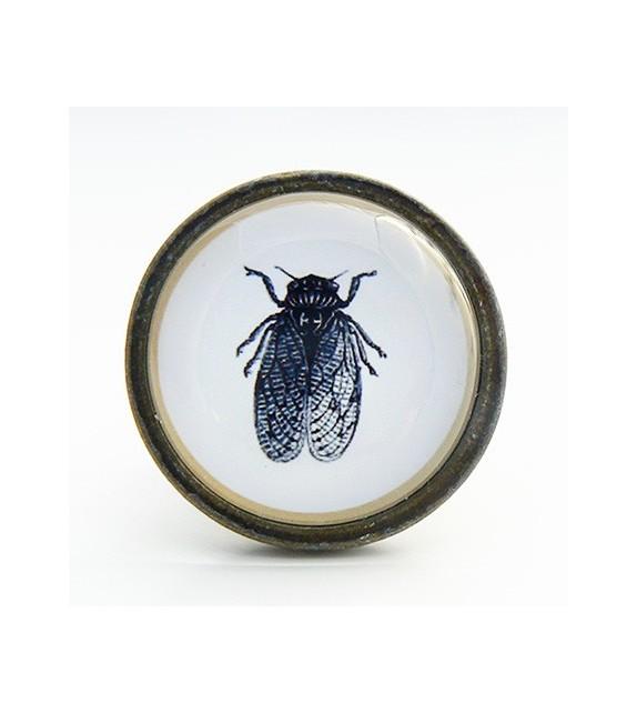 Bouton de meuble insecte mouche - Cabinet de curiosités