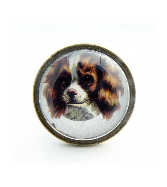 bouton de meuble chien cavalier king charles spaniel boutons. Black Bedroom Furniture Sets. Home Design Ideas