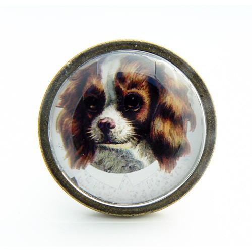 Bouton de meuble chien cavalier king charles spaniel boutons - Bouton de meuble original ...